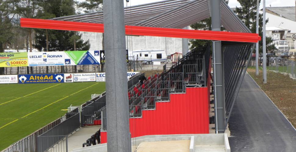 stadium extension project - Chalon Rugby - Project designer