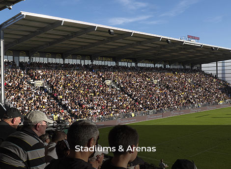 Stadiums and arenas